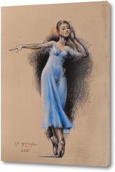 Постер Балерина в голубом
