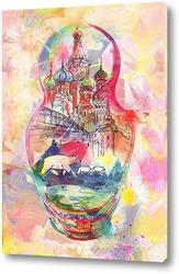 Постер Московская матрешка