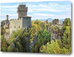 Постер замок в Сан-Марино