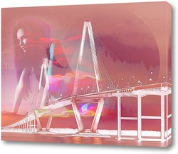Постер Красивый мост