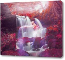Постер Удивительный водопад