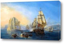 Картина -- Взятие скалы Бриллиант близ Мартиники 2 июня 1805 года