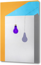 Постер Геометрический натюрморт с Тенью от фиолетовой лампочки