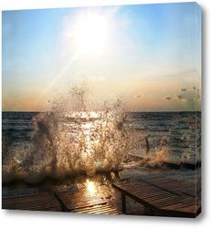 Постер Брызги моря