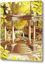 Постер Беседка с тиграми
