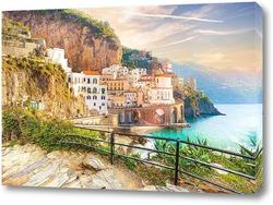 Постер Утро на побережье Амальфи