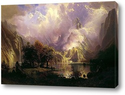 Постер Скалистый горный пейзаж