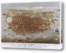 Картина Город Сан Франциско, панорама