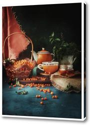 Постер Чай с облепихой
