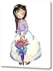 Картина Девочка с зонтиком