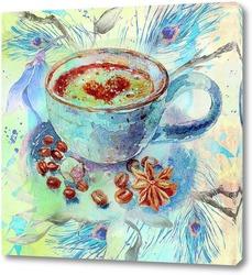 Постер Синяя чашка