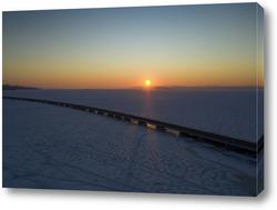 Постер Вид с воздуха на мост Седанка-Де Фриз. Владивосток