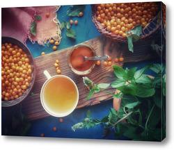 Постер Чаепитие с облепиховым вареньем