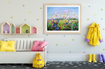 Модульная картина Цветущее поле