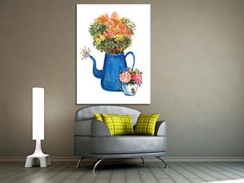Модульная картина Букет цветов в чайнике, милый букет