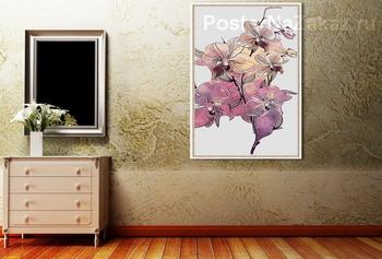 Модульная картина Веточка орхидеи