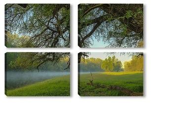 Модульная картина Пробуждение природы