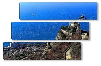 Модульная картина Крым. Форос.Церковь в горах