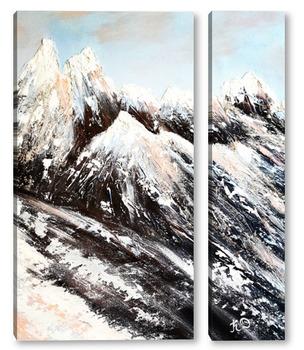Модульная картина Лучше гор только горы