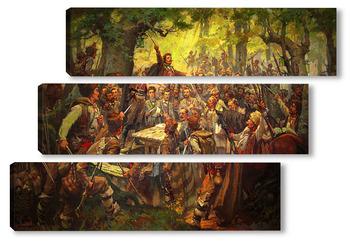 Модульная картина Събранието на Оборище 1876 Димитър Гюдженов