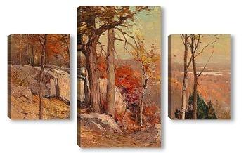 Модульная картина Осень с видом на долину