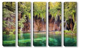 Модульная картина Плитвицкие озера