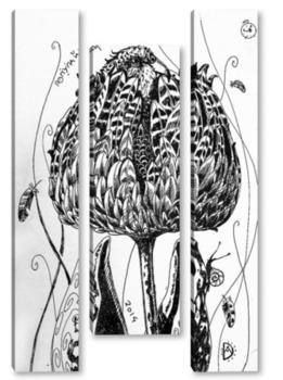 Модульная картина Попугайный тюльпан