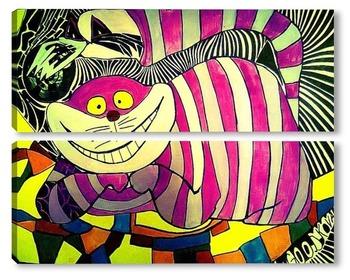 Модульная картина Чеширский кот