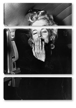 Модульная картина Мерлин Монро посылающая воздушный поцелуй,1956.