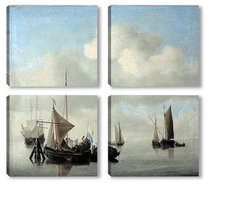 Модульная картина Корабли в штиль
