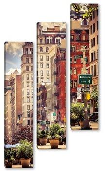 посиделки на набережной с видом на Манхеттен