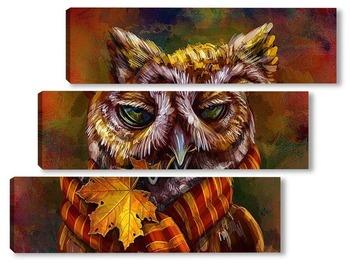 Модульная картина Осенняя совушка