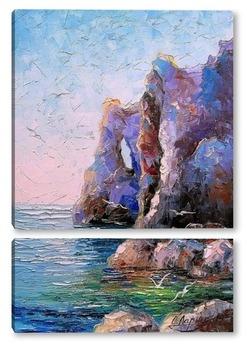 Модульная картина Скалистый берег