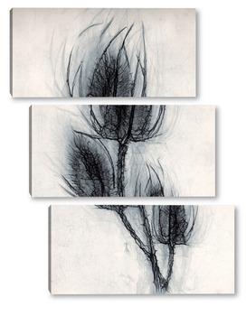 Модульная картина Сухоцвет