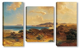 Модульная картина Пляж Эстепона