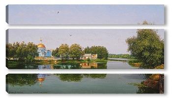 Модульная картина Нижнее озеро. Киров калужский