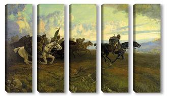 Модульная картина Петър Морозов Хвърковатата чета на Бенковски