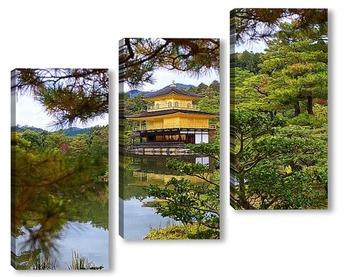 Модульная картина Золотой храм 2