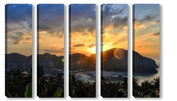 Модульная картина Вид на райский остров