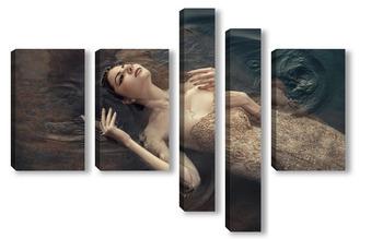 Модульная картина В тёмных водах