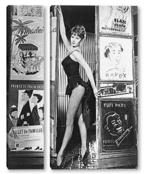 Одри Хепбёрн в<Завтрак у Тиффани>.