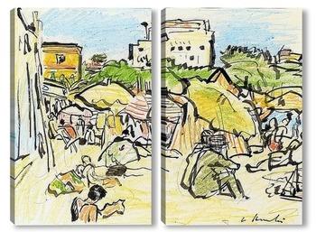 Модульная картина На пляже Хуан Ле Пен