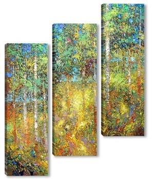 Модульная картина Берёзовый лес