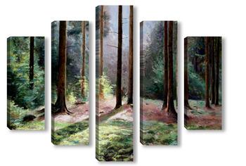 Модульная картина Звуки леса