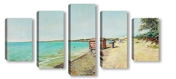 Модульная картина Санлукар де Баррамеда.Пляж