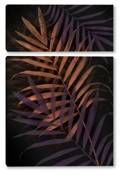 Модульная картина Тропические листья