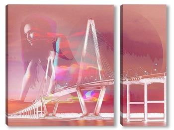 Модульная картина Красивый мост