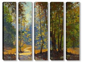 Модульная картина Путь леса, 1937