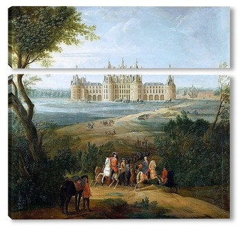 Модульная картина Вид на замок Шамбор со стороны парка