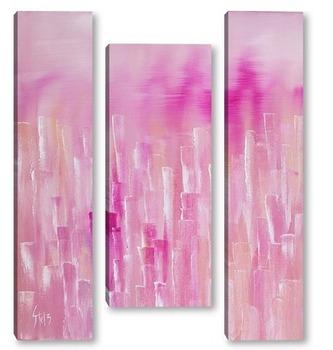 Модульная картина Стеклянный Розовый